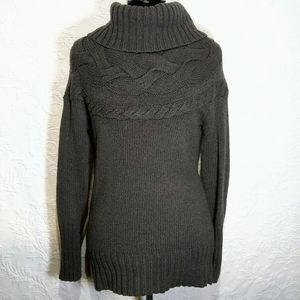 LOFT Small Wool Cotton Knit Cowl Neck Sweater Top